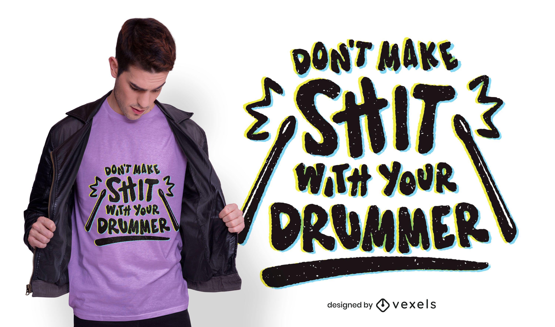 Drummer lettering t-shirt design