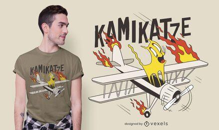 Design de camiseta Kamikatze