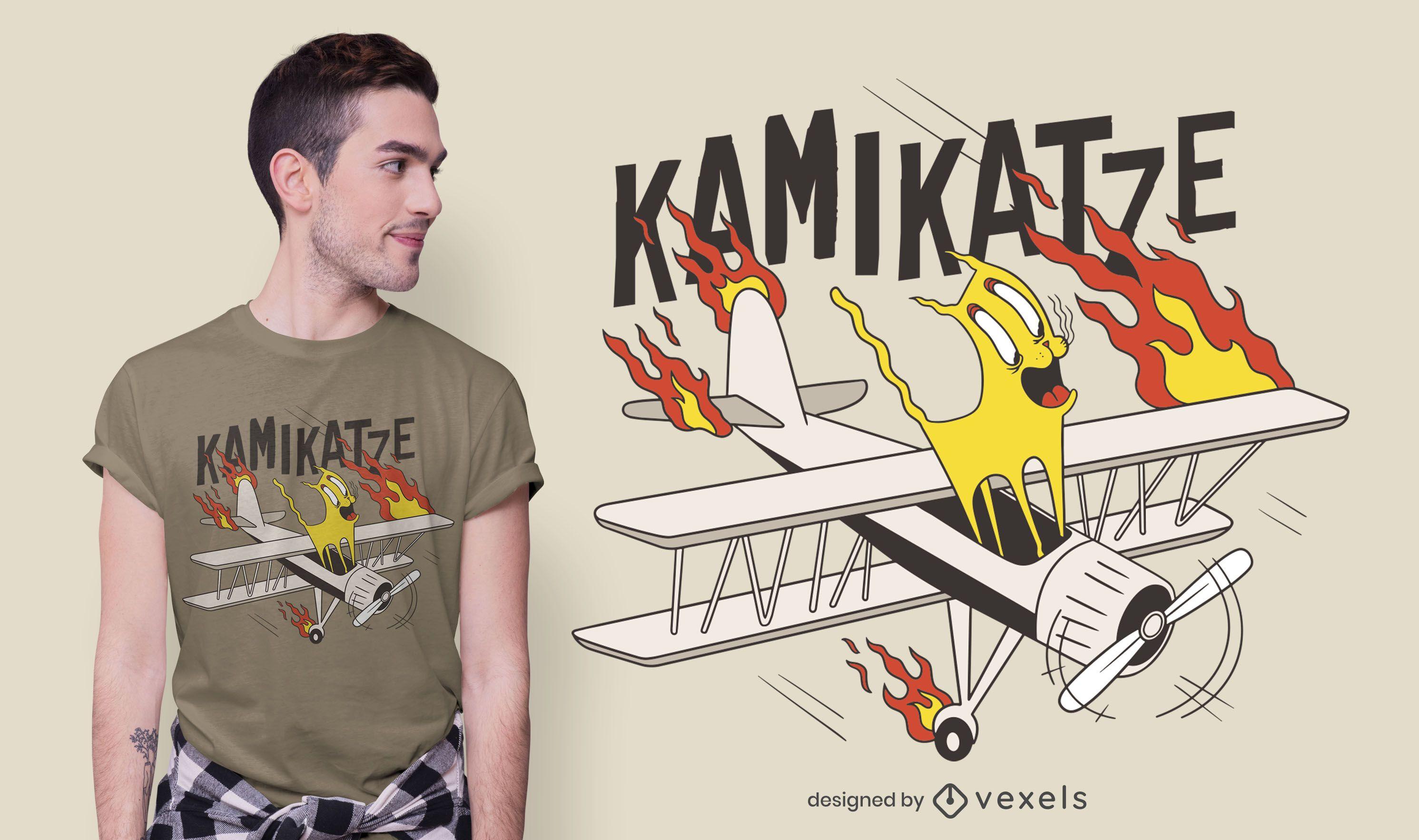 Dise?o de camiseta Kamikatze