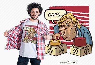 Diseño de camiseta de trump nuclear