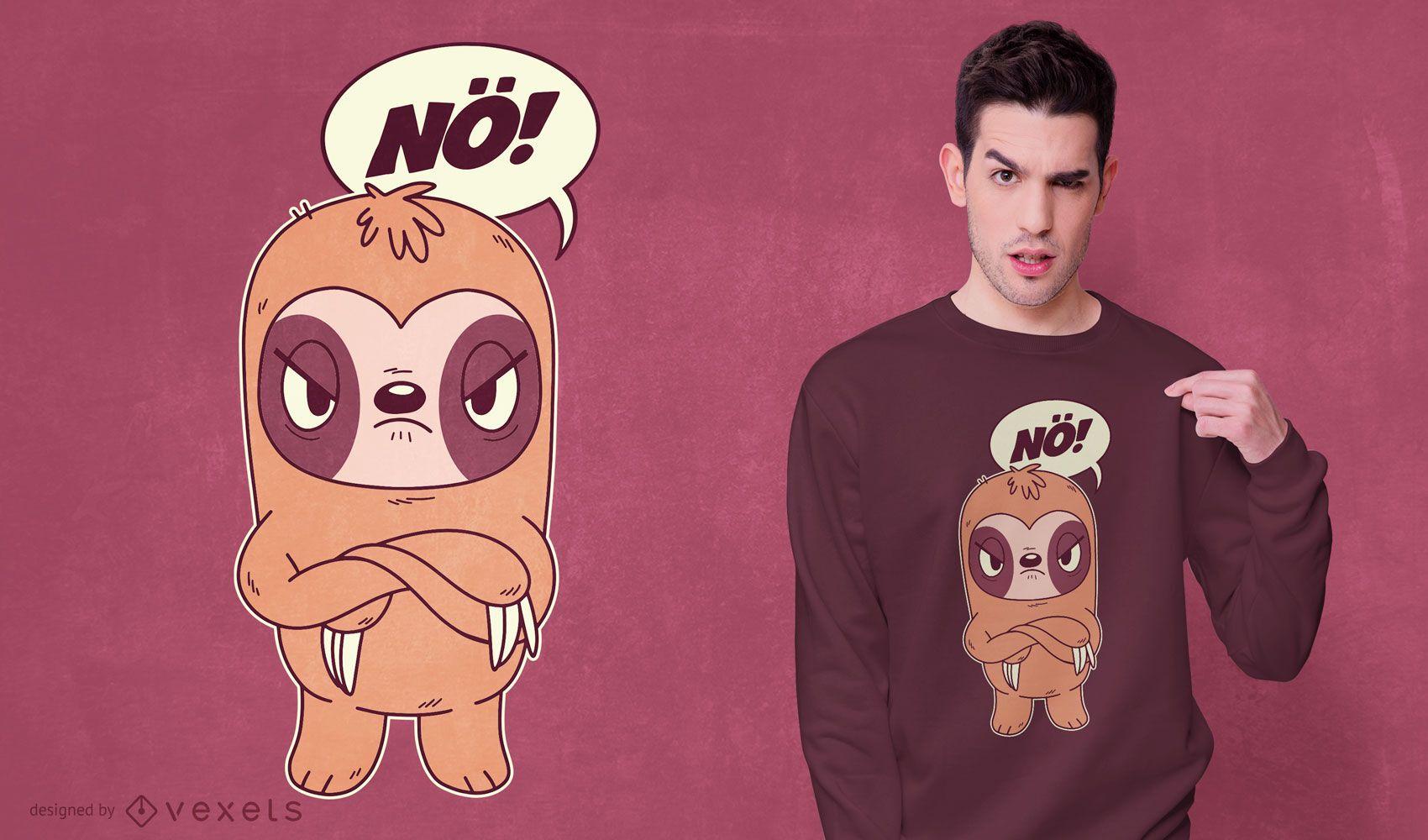 Angry sloth t-shirt design