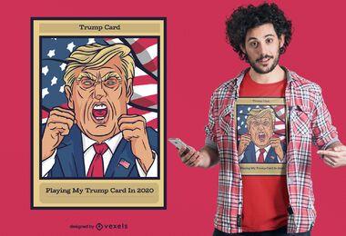 Diseño de camiseta con tarjeta Trump