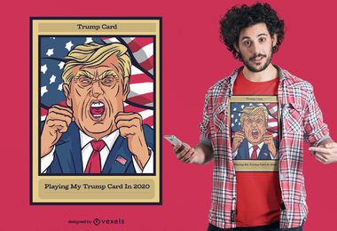 Trump card t-shirt design