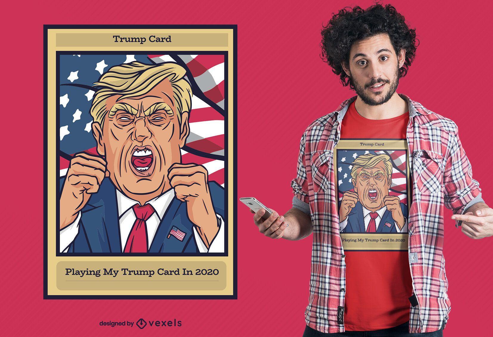 Trump card t-shirt design