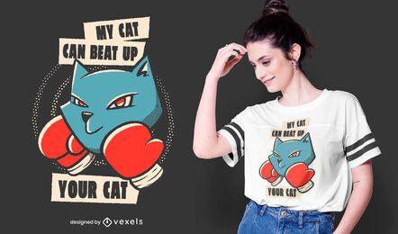 Mi diseño de camiseta de cita de gato