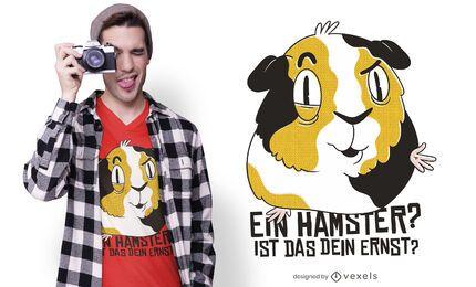 Diseño de camiseta con cita alemana de conejillo de indias