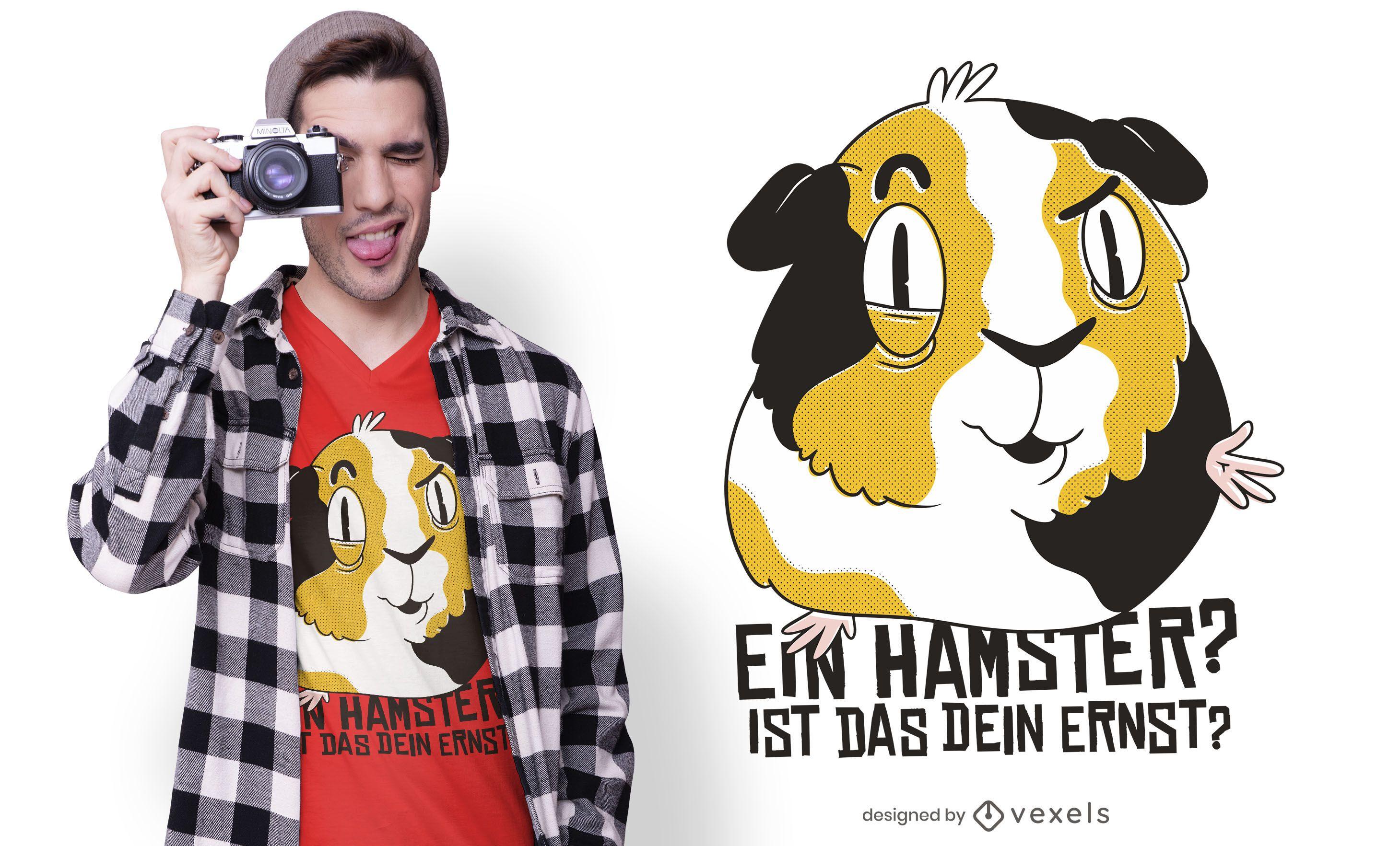 Guinea pig german quote t-shirt design