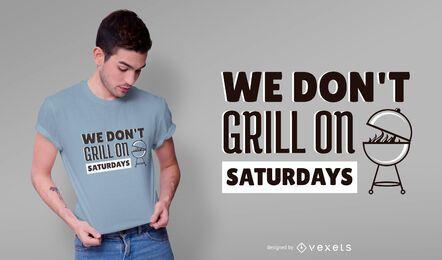 Diseño de camiseta con cita de parrilla
