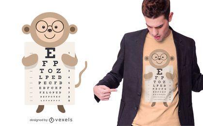 Diseño de camiseta de gráfico de ojos de mono
