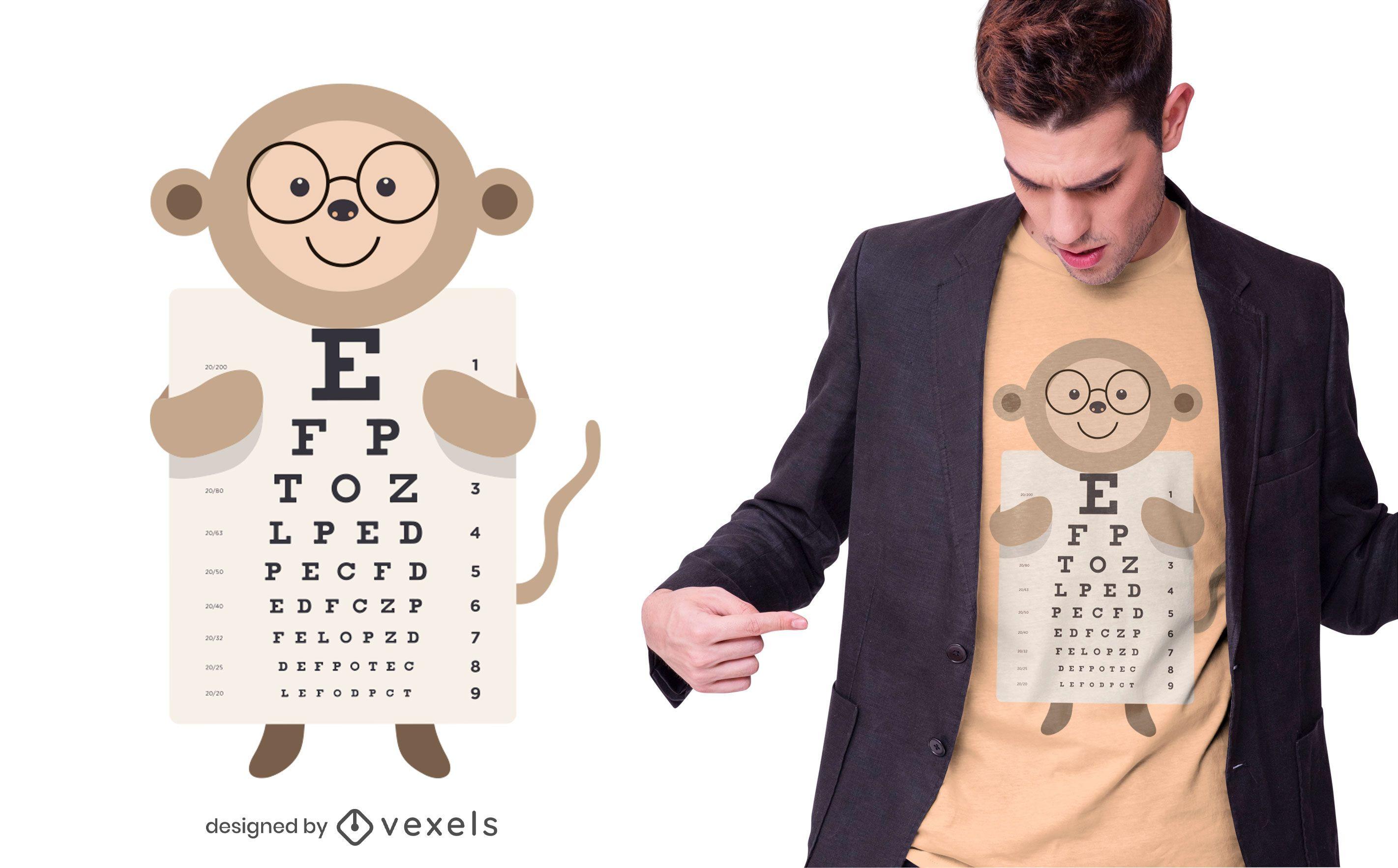 Affen-Augendiagramm-T-Shirt-Design