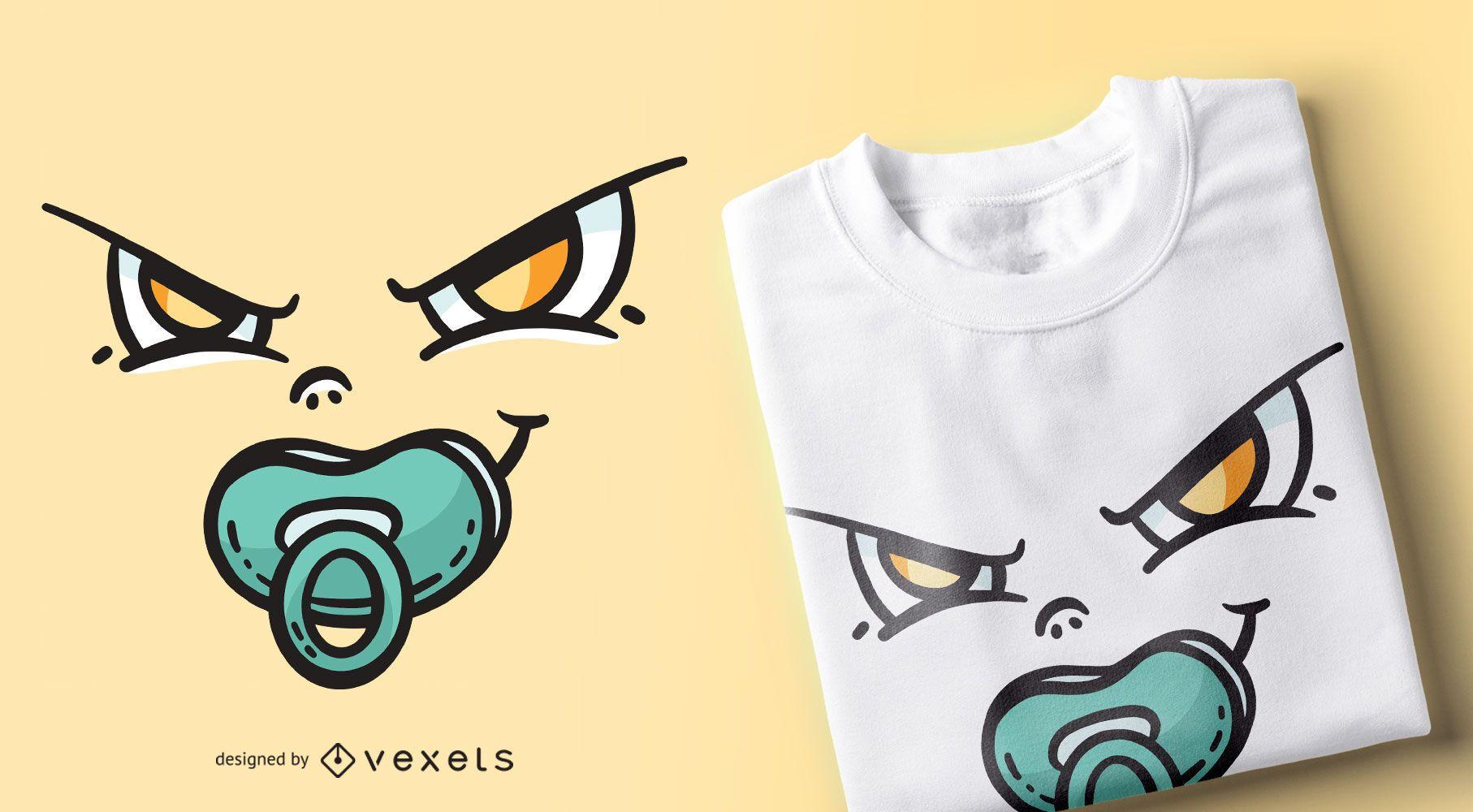 Diseño de camiseta de cara de bebé