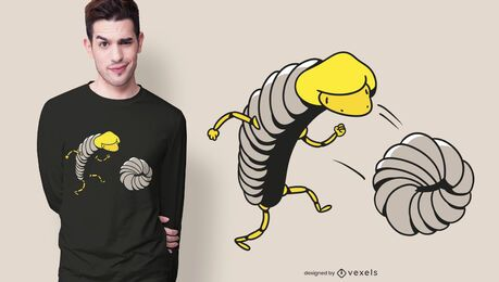 Woodlice running t-shirt design