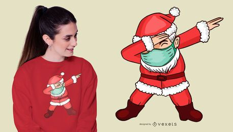 Dabbing design de t-shirt do papai noel