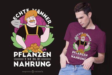 Diseño de camiseta de cita alemana de granjero