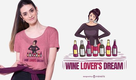 Wine lover t-shirt design