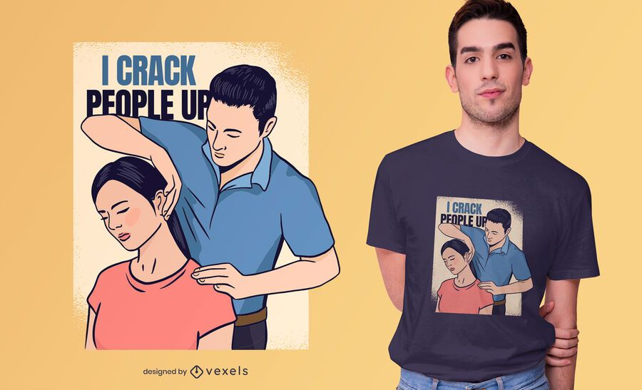 Diseño de camiseta de crack people up