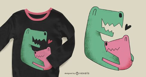 Dinosaurs family t-shirt design