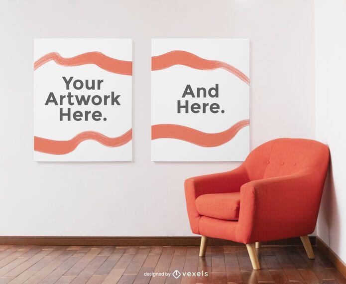 Canvas mockup set design