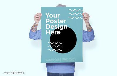 Diseño de maqueta de póster modelo