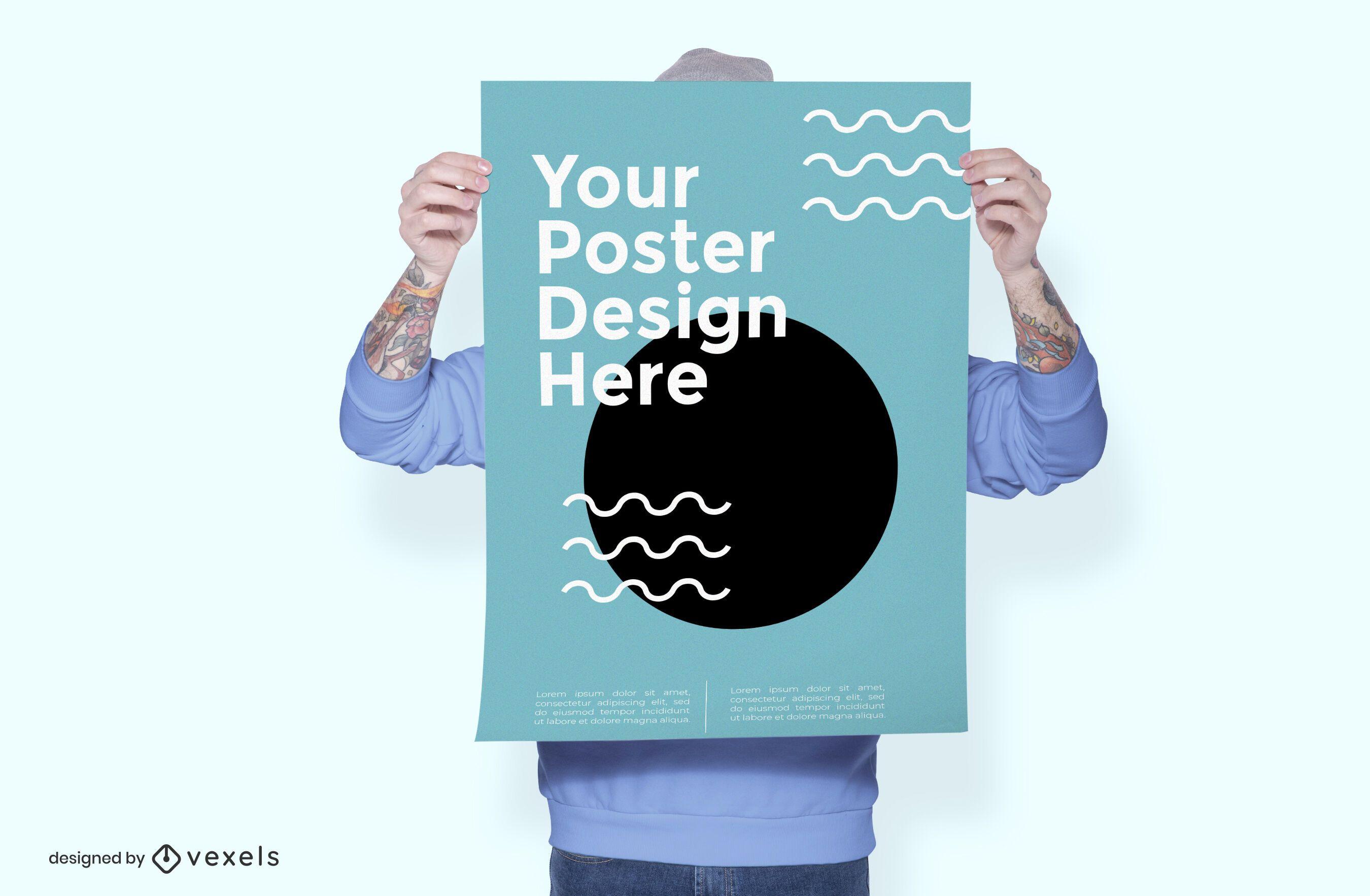 Model poster mockup design
