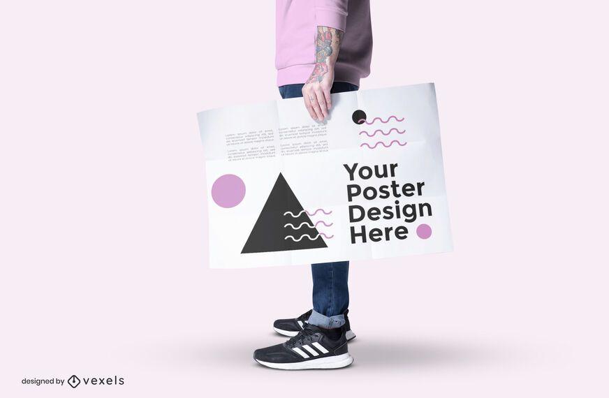 Modelo con diseño de maqueta de póster.