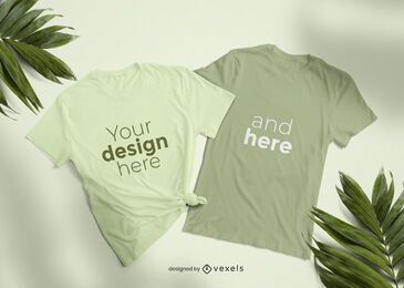 T-shirt mockup set design
