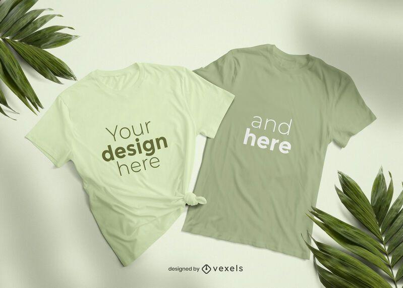 T-shirt mockup set design