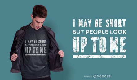Design de camiseta com citação curta
