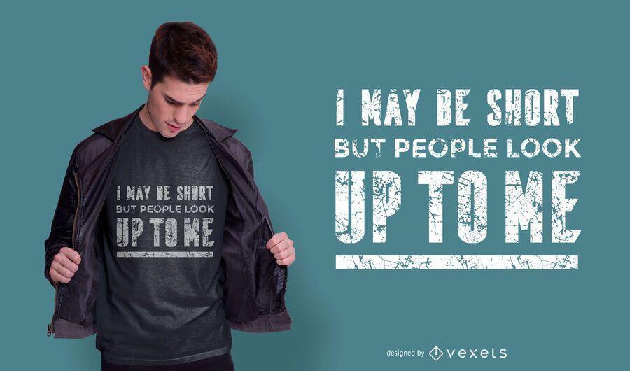Diseño de camiseta con cita corta