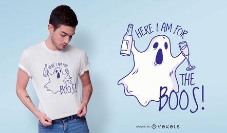 Hier für das Boos T-Shirt Design