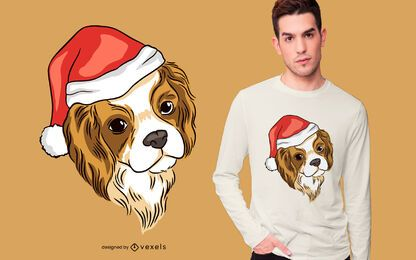 Diseño de camiseta de perro cavalier