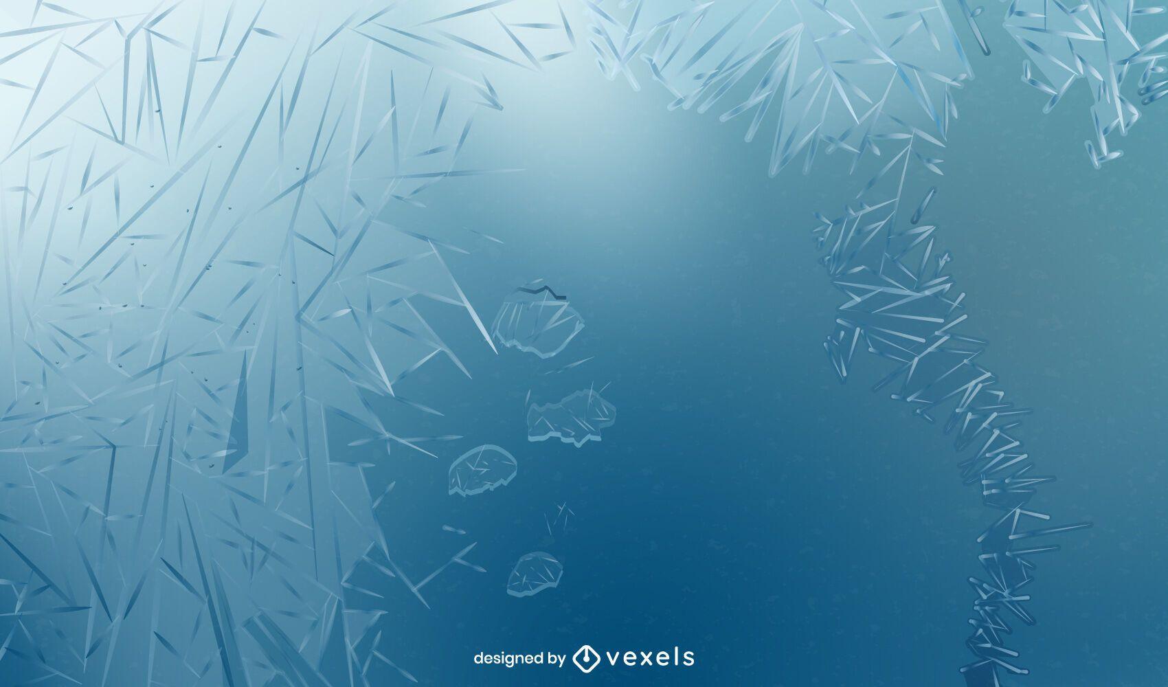 Diseño de fondo congelado