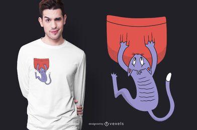 Cat falling t-shirt design