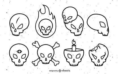 Diseño de escenografía de trazo de cráneo