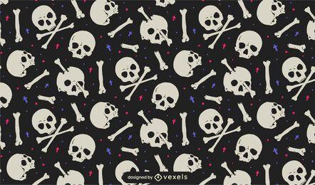 Desenho de crânios e ossos