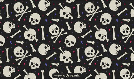 Musterdesign für Schädel und Knochen