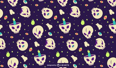 Mythical skulls pattern design
