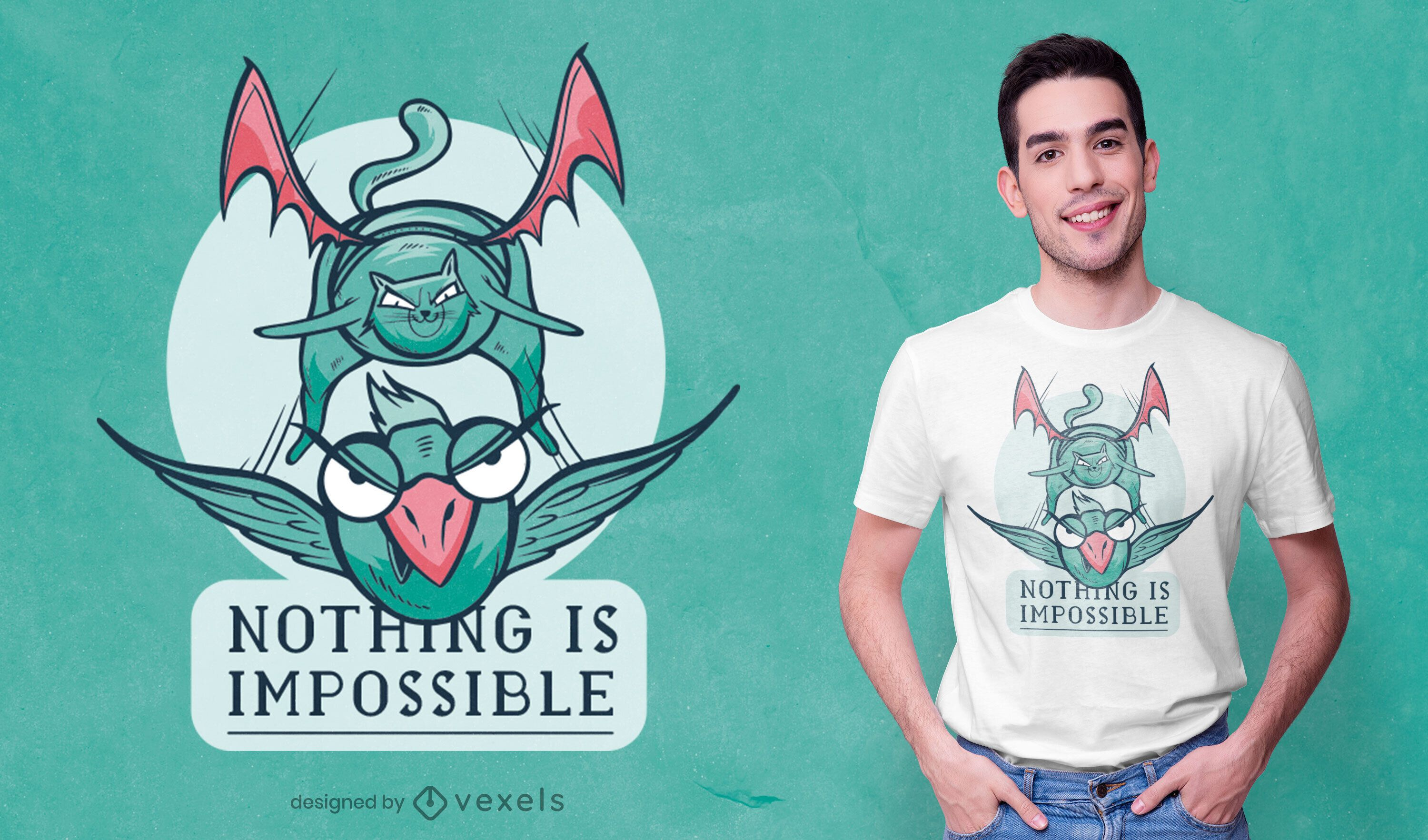 Nothing is impossible t-shirt design