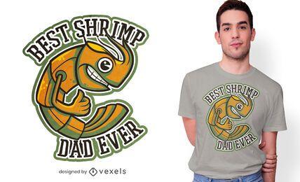 Diseño de camiseta de papá camarón