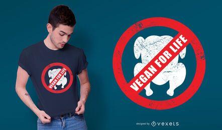 Vegan fürs Leben T-Shirt Design