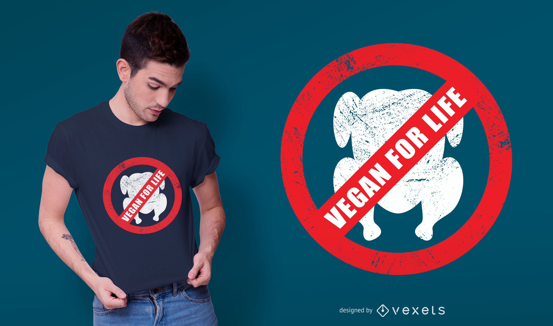 Vegan for life t-shirt design