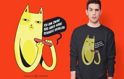Diseño de camiseta de garras afiladas