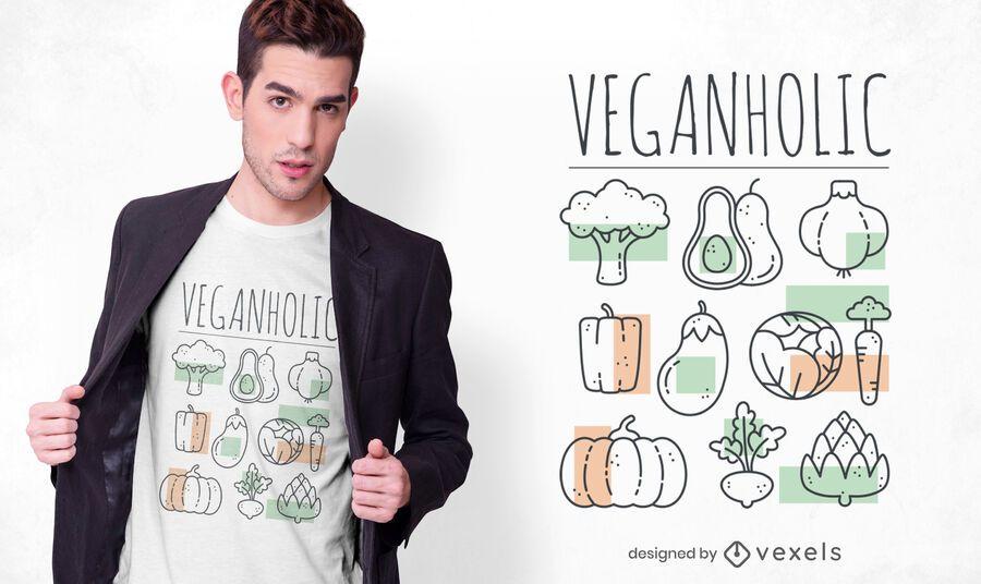 Design de camiseta veganholic
