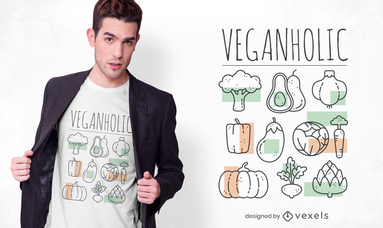 Veganholic t-shirt design