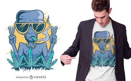 Diseño de camiseta alien joint
