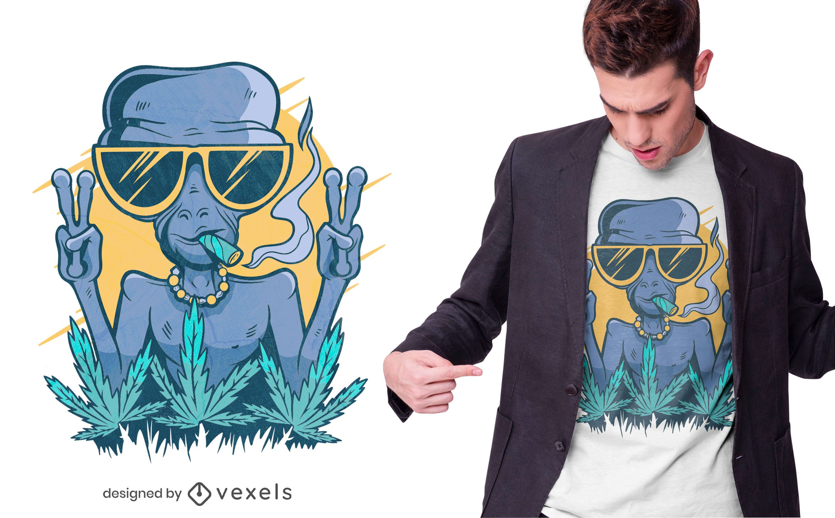 Alien joint t-shirt design