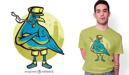 Design de camiseta de marinheiro gaivota