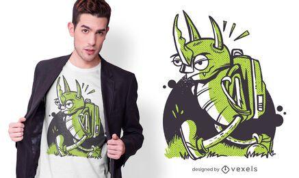 Diseño de camiseta de insecto enojado