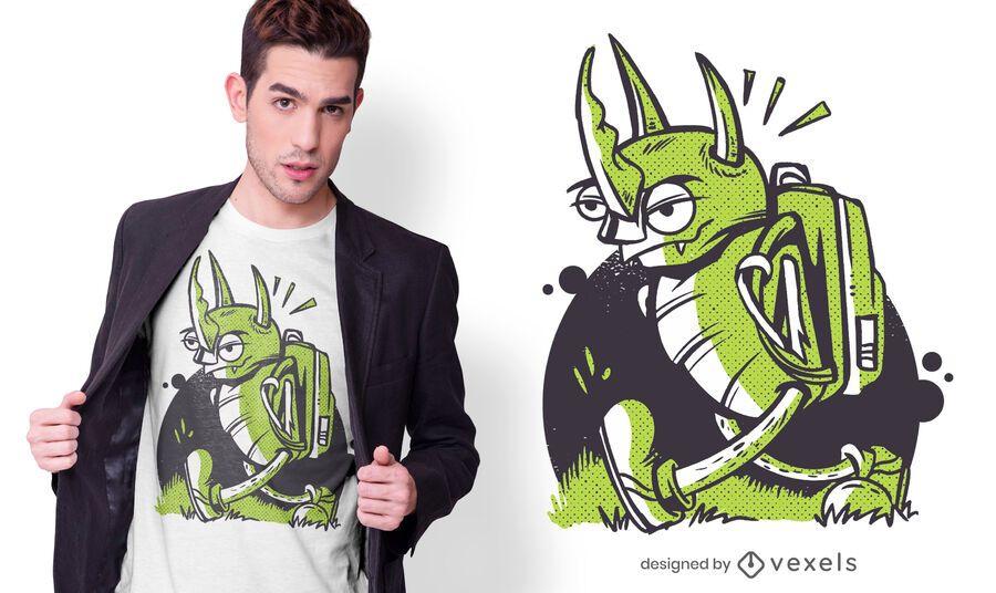 Design de camiseta de inseto zangado
