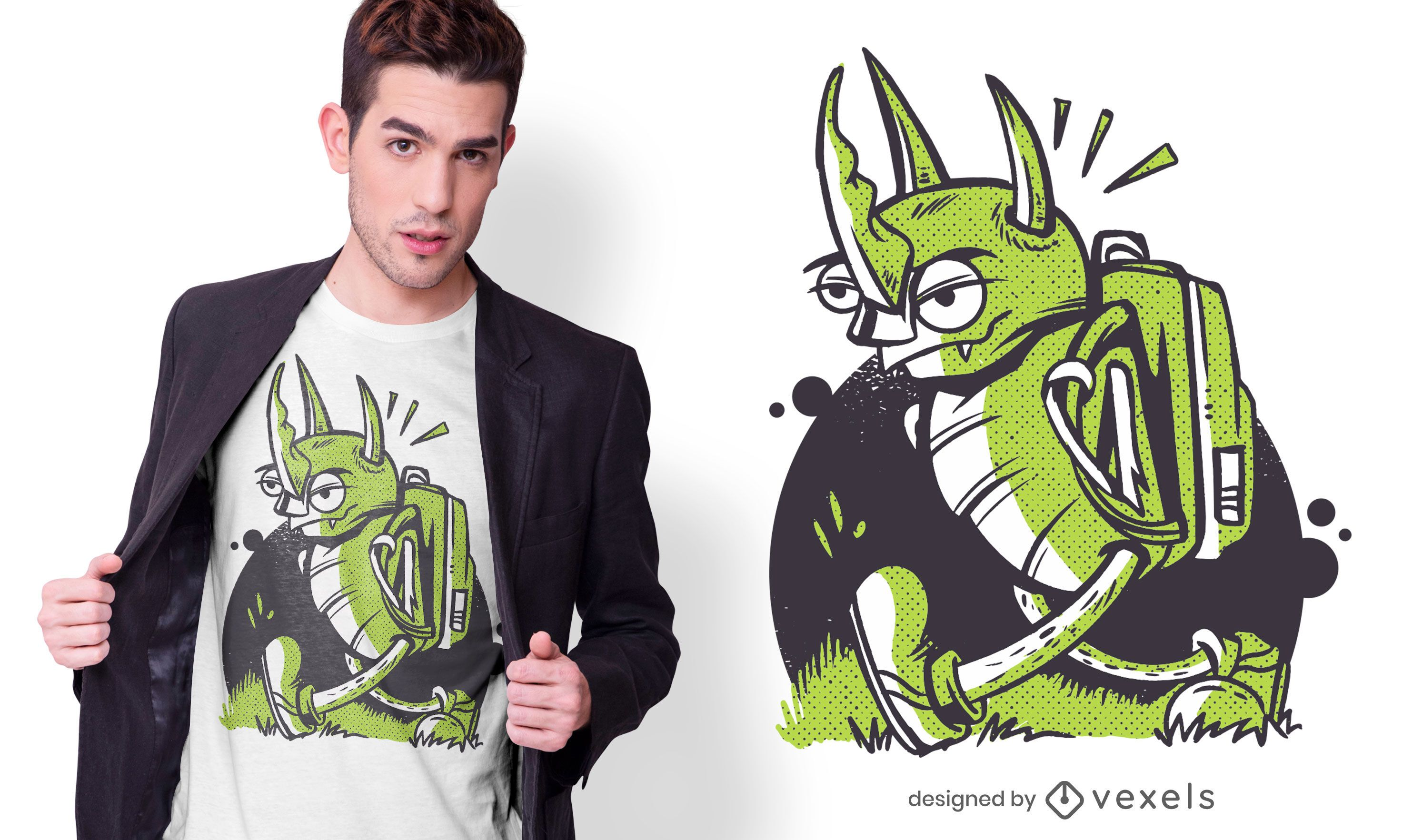 Angry insect t-shirt design